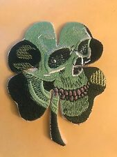 PIRATE SKULL CLOVER CELTIC IRISH TACTICAL US ARMY PATCH IRON ON OR SEW ON