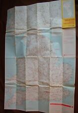 1970 mapa a través de rutas Guildford Inglaterra Escocia Gales AA Bartolomé HR 49