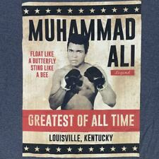 NWT Muhammad Ali Tee Size 5X Gray Color With Graphic Picture Of Ali The Greatest