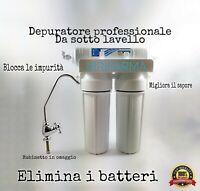 Depuratore acqua potabile purificatore per rubinetto microfiltrazione 2 3 stadi