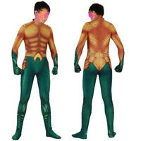 Aquaman Arthur Curry Adult Kids Halloween Cosplay Costume Bodysuit