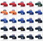 Classic Embroidered MLB Flat Brim Hip Hop Cap Snap-back Sports Hat For Unisex
