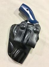 """Leather IWB Holster S&W J Frame 2"""", RUGER SP101 - 2"""" Revolver (# 7300 BLK)"""