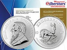 1 oz Silber Krügerrand 2017 1 Rand Südafrika  50 Jahre Jubiläum mit Zertifikat