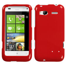 For HTC Radar 4G T-Mobile HARD Protector Case Snap on Phone Cover Flaming Red