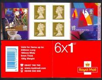GB 2011 Olympics/Paralympics/Sports/Rugby/Sailing/Disabled 6v bklt (n32602)