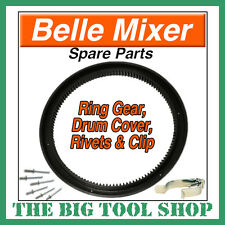 BELLE MIXER RING GEAR MINIMIX 130 C/W DRUM COVER, RIVETS & CLIP