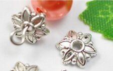 wholesale 100pcs Tibetan Silver flower charm bead cap 8mm
