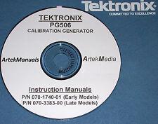 TEK PG506 Pulse Generator Operating & Service Manuals Hi & Lo Serial 2 volumes