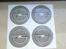 COPRIMOZZI KIT CAP CAPS CENTER 3D X4 PZ 60 mm OPEL GRIGIO GT ASTRA OPC INSIGNIA