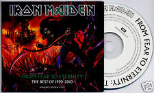 IRON MAIDEN From Fear To Eternity Best Of 1990-2010 UK advance promo 2-CD