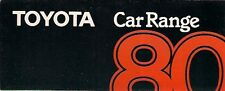 Toyota 1980 UK Market Foldout Sales Brochure Starlet Corolla Carina Celica Crown