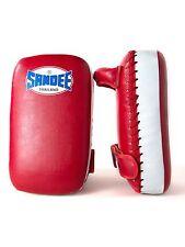 Sandee Thai Kick Pads Muay Thai Boxing Half Focus Pads Kickboxing Small Red