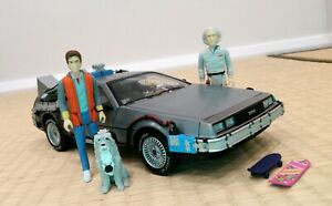 Hot Wheels Elite 1:18 Back to the Future Delorean with Mr. Fusion & Figures