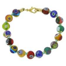 Glassofvenice Murano Glass Mosaic Bracelet - Multicolor