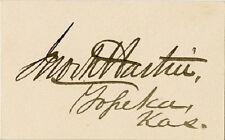 Kansas Senator JOHN MARTIN Autograph