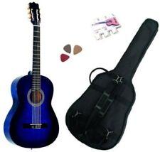 Pack Guitare Classique 4/4 (Adulte) Gaucher Avec 3 Accessoires (bleu)