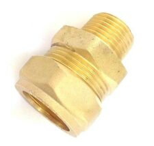 LeoBrass 22mm to 15mm 22Cx15MI Reducer Fitting for Solar Collectors, DR Brass