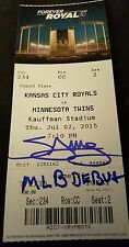 """MIGUEL SANO SIGNED """"MLB DEBUT"""" INSCRIBED & 1ST HIT TICKET AUTOGRAPHED COA PROOF"""