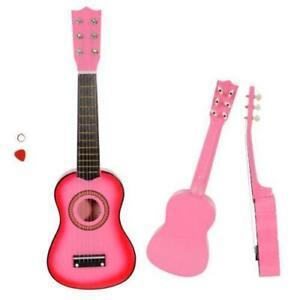 "New Pink 21"" Child Kids Concert Acoustic Guitar Musical Instrument Kit"