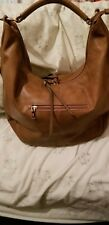 YouLarge Brown Faux SOFT Leather Hobo DBL ZIPPER Slouch Purse Handbag NEW W/OUT