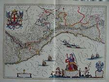 MAPPA REPUBBLIC DI GENOVA 1640 LIGURIA ONEGLIA RAPALLO SAVONA ALBENGA LA SPEZIA