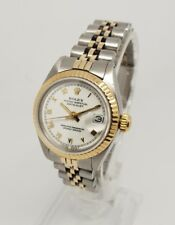 Rolex Datejust 6917 Esfera Blanca Reloj De Acero Oro 18K 26 mm