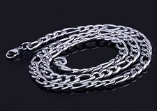 "Stainless Steel Women/Mens Necklace 24""Link 5MM Curb Chain Costume Jewerly Charm"