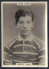 PINNACE FOOTBALL (LF SIZE BLACK OVAL BACK)-#0475- RUGBY - CARDIFF - CLEM LEWIS