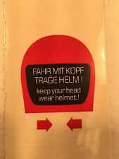 KEEP YOUR HEAD WEAR HELMET STICKER DECAL for classic BMW Motorcycles  -NEW- F-16