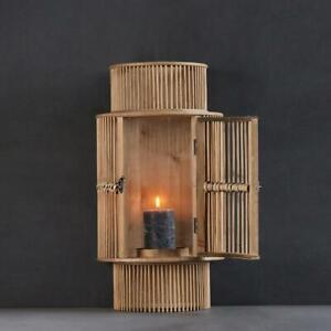 Susila Bamboo Curved Wall Lantern Rattan 54 x 17 x 27 cm Hallway Lounge Bohemian