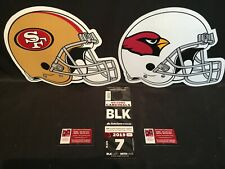 Arizona Cardinals v San Francisco 49ers 10/31 Black BLK Lot Parking Pass Tickets