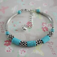 Good Quality Chain Foot Blue Jewelry GEMSTONE Bracelet Ankle Fake Turquoise