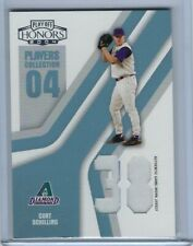 CURT SCHILLING 2004 PLAYOFF HONORS 13/50 GAME WORN JERSEY CARD