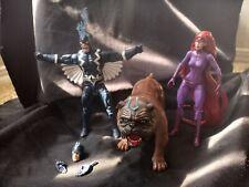 Marvel Legends Lockjaw Black Bolt and Medusa Action Figure Lot