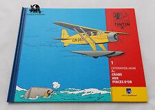 TINTIN Album Les avions fascicule l'hydravion du Crabe aux Pinces d'Or Livret