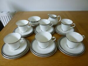 Royal Doulton Sarabande Tea Set - Trios, Jug & Sugar Bowl