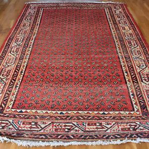 Handmade Vintage Traditional Oriental Wool Rug 205 X 130cm
