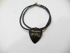 "THE WEEKND Abél Guitar Pick plectrum signature gold stamp 20"" leather NECKLACE"