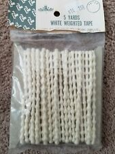 Vintage Weighted Drapery Tape - Sausage Bead 5 Yards sears And Roebuck