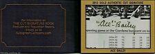 2013 Ace Bailey Cut Autograph Book Gold 1/1 JSA COA I53679 - Maple Leafs 1930's