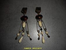 PAIRE DE BOUCLES D'OREILLE ARTISANALE N° 37