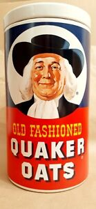 """""""Old Fashioned Quaker Oats"""" Ceramic Cookie Jar - Vintage 1970's - *Regal China*"""