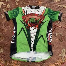 PRIMAL WEAR Cycling Jersey Short Sleeve Size Large Frog Pattern Bike Jersey