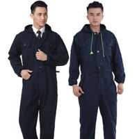 Men women Boilersuit Hooded Jumpsuit Workwear Coverall Overall Tuff Work Uniform