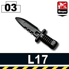 L17 (W108) Toy Army Combat knife bayonet compatible with toy brick minifigures