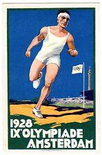 POSTCARD DUTCH 1928 OLYMPICS AMSTERDAM