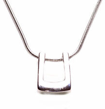 Gorgeous & Chic Chrome Basket Pendant/slim Chain & Adjustable Necklace(Zx185)