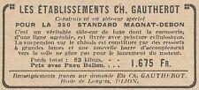 Y5843 Sidecar MAGNAT-DEBON - Pubblicità d'epoca - 1930 Old advertising