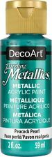 6 Pack-DecoArt Dazzling Metallics Acrylic Paint 2oz-Peacock Pearl -Dm-Da314